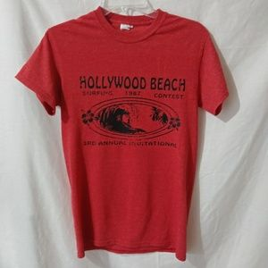 Vintage 1987 Hollywood Beach Surfing Contest Shirt
